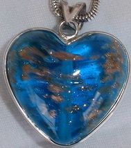 Turquoise gold morano heart a thumb200