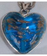 Turquoise gold Morano heart - $103.00