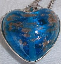 Turquoise gold morano heart a 2 thumb200