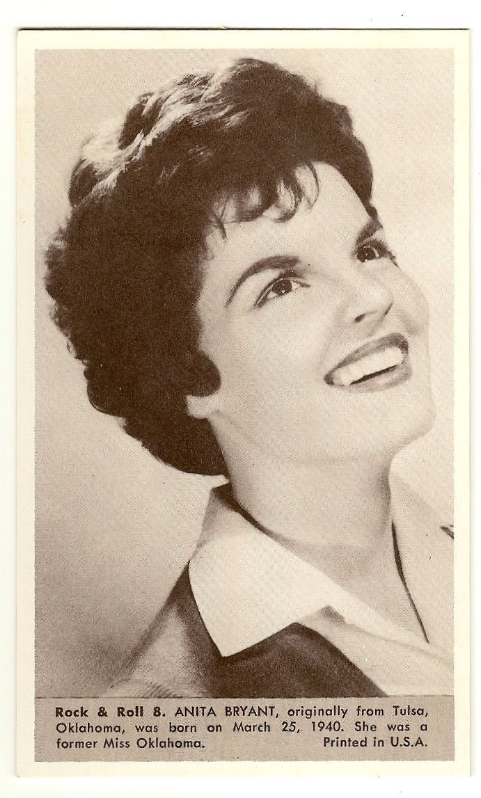 Primary image for Anita Bryant   Number 8  Collectible Rock and Roll  Arcade or Exhibit Card