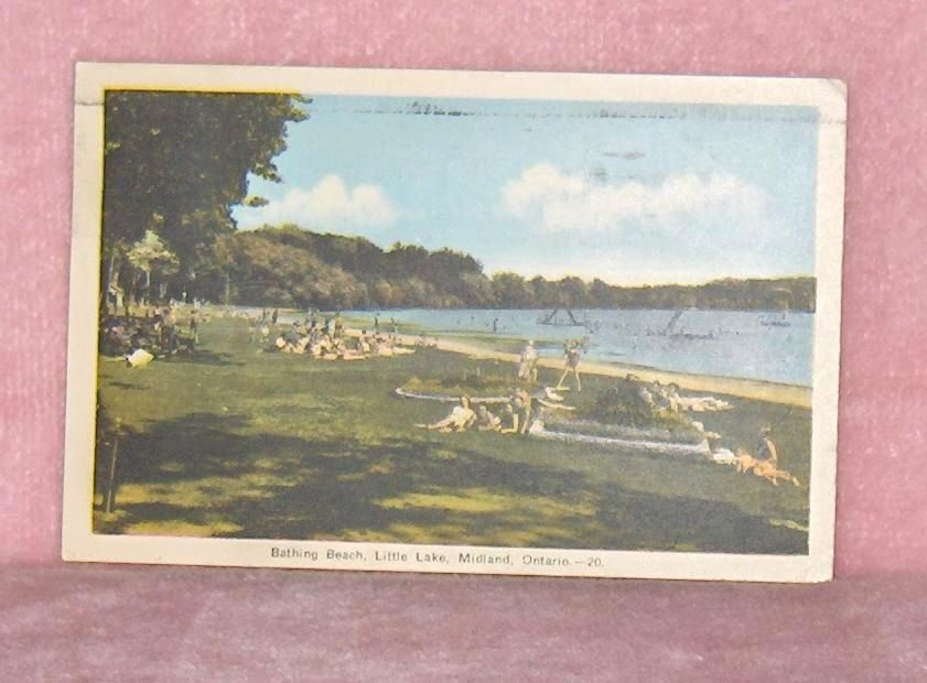Primary image for Bathing Beach  Little Lake  Midland Ontario  Canada  Colour Postcard
