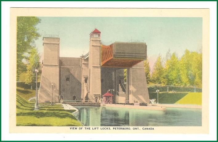 Primary image for View of the Liftlocks  Peterborough Ontario Postcard