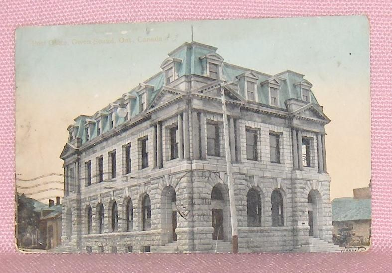 Primary image for Vintage Postcard Post Office Owen Sound  Ontario