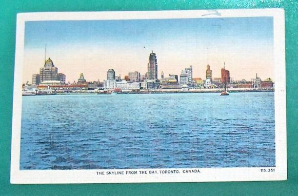 Primary image for Skyline from the Bay Toronto   Ontario Canada Postcard