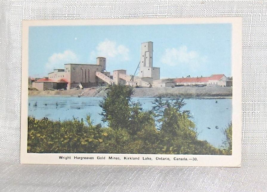 Primary image for Postcard  Wright Hargreaves Gold Mines Kirkland Lake   Ontario