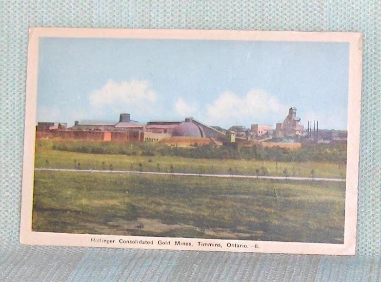 Primary image for Postcard  Hollinger Consolidated Gold Mines Timmins   Ontario