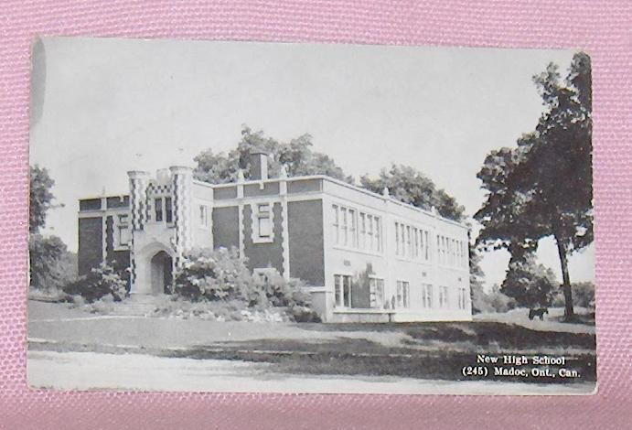 Primary image for Postcard New High School Madoc Ontario