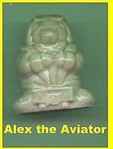 Wade Porcelain  Bear Alex the Aviator   Green Color - $16.84
