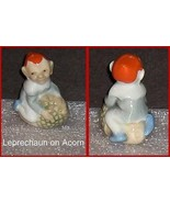 Wade Porcelain Leprechaun on an Acorn Reddish-Orange Hat  Scarce - $63.04