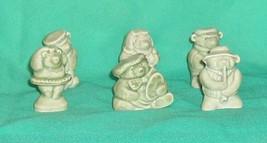 Wade Porcelain  Bears  Complete Set of 6  Green Color Bears - $85.12