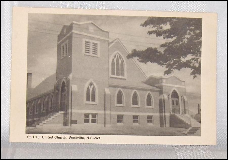 Primary image for St. Paul United Church Westville  Nova Scotia Canada Postcard