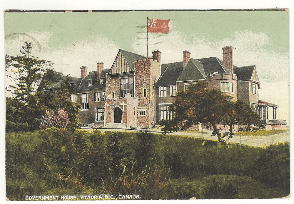 Primary image for Postcard Government House  Victoria British Columbia Canada