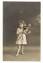 Collectible Color  Postcard Printed in Germany Showing Beautiful Little ... - $8.95