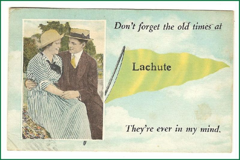 Primary image for Lachute   Pennant Card Quebec  Canada Vintage Postcard