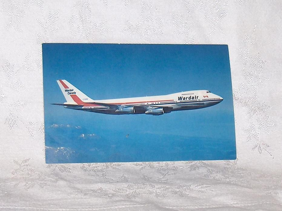 Primary image for Airplane  Wardair Canada Boeing 747 Airplane Postcard