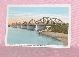 Postcard Lincoln Highway Bridge North Platte Nebraska  USA - $8.95