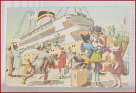 Collectible Cat Postcard Leaving on a Trip - $9.04