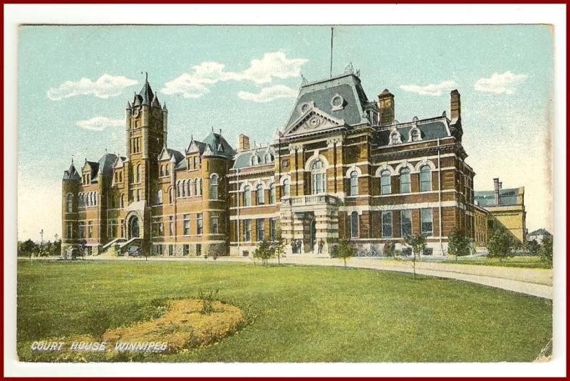 Primary image for Postcard Court House  Winnipeg  Manitoba Canada