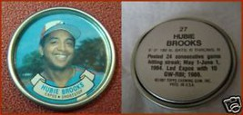 Topps Metal Baseball Coin Hubie Brooks # 27 - $3.17