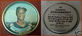Topps Metal Baseball Coin Darryl Strawberry #46 - $3.17