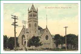Postcard  St. Andrew's Church   Kingston Ontario - $11.64