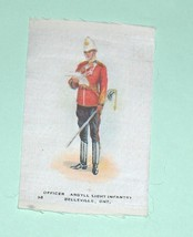 Officer Argyll Light Infantry Belleville Military Cigarette Silk Number  38 - $16.25