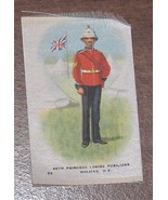 66th Princess Louise Fusiliers Halifax N.S.  Military  Cigarette Silk Nu... - $12.50