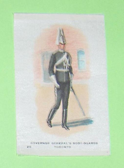 Primary image for Governor General's Body-Guards Toronto  Vintage Cigarette Silk Number 26