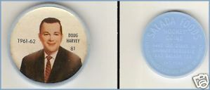 Primary image for Shirriff   Salada  Plastic Hockey Coin Disc Doug Harvey  Number  81