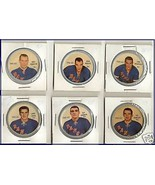 Lot of  6 Hockey Coins  Plastic  1961-1962 - $23.36