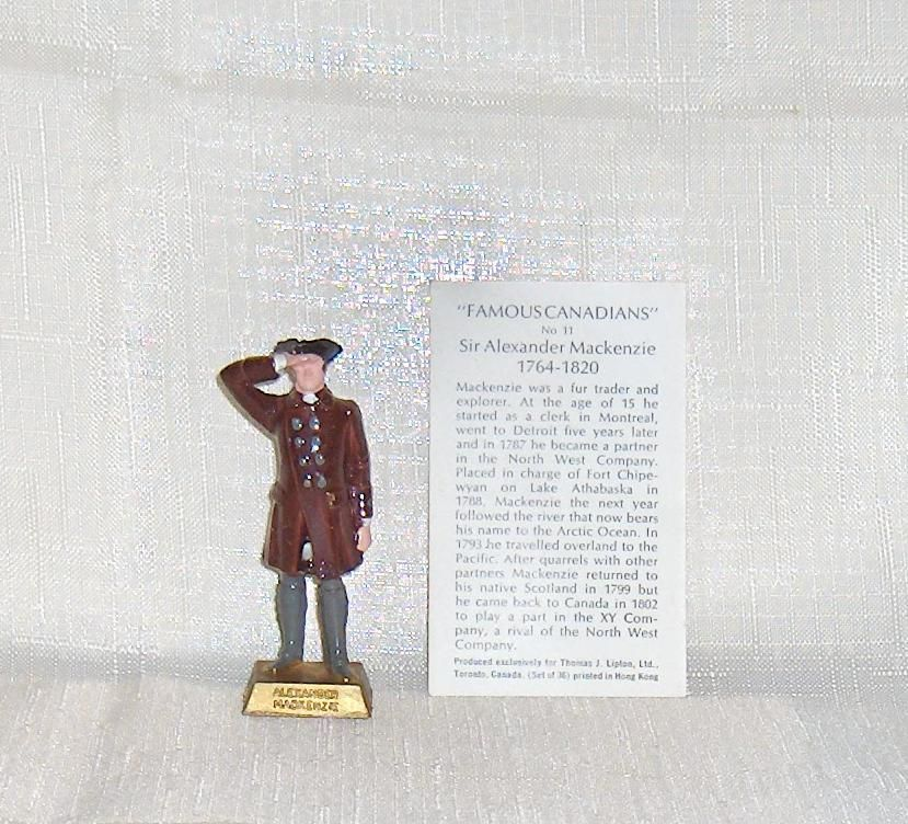 Primary image for Famous Canadians Sir Alex MacKenzie  Number 11  With Information Card