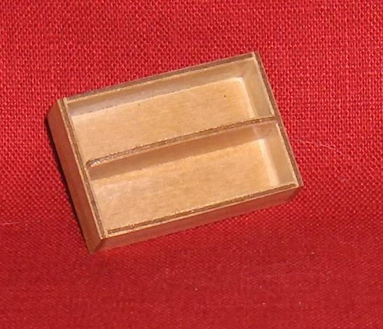 Primary image for Miniature Wooden Divided Tray   Vintage  Dollhouse Furniture