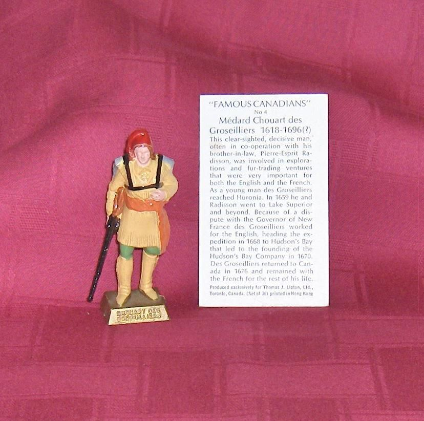 Primary image for Famous Canadians Chouart des Groseilliers  Number 4  With Information Card