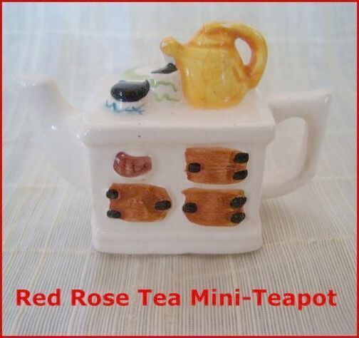 Primary image for Mini-Teapot Afternoon Tea Red Rose Canadian Tea Premium