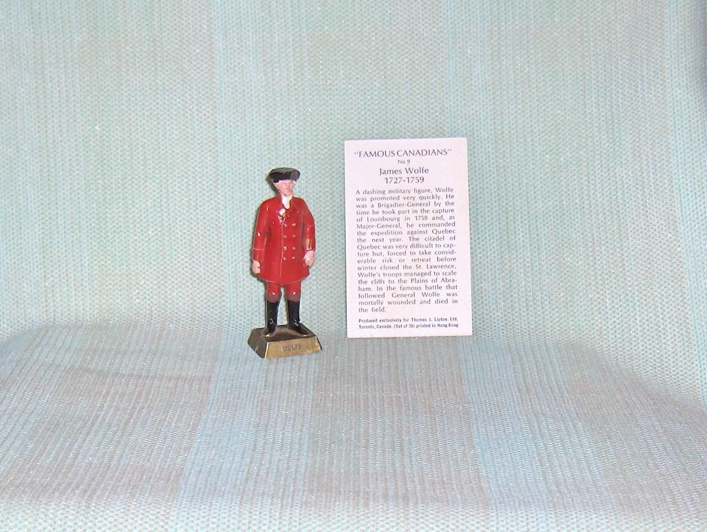 Primary image for Famous Canadians James Wolfe  Number 9 With Information Card