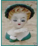 Beautiful Lady Headvase With Earrings  Head vas... - $59.95