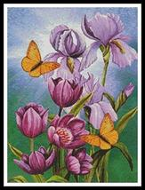 Irises and Flowers cross stitch chart Artecy Cross Stitch Chart - $14.40
