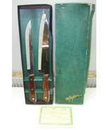 Vintage Maxam Stainless Steel Kitchen Chef Carving Knife Set  In box - $19.99
