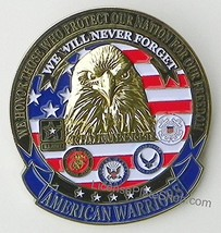 AMERICAN WARRIORS Car/Truck Grille Badge Emblem... - $13.85