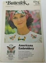 Vintage Butterick 4308 Super Bicentennial Americana Embroidery Transfers Uncut - $17.05