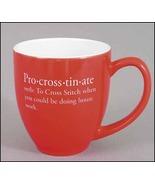 Pro-Cross-Tin-Ate Red Mug 15oz cross stitch fun... - $12.00