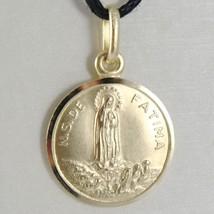 Anhänger Medaille Gelbgold 750 18K, Madonna, Unser Lady von Fatima, 15 MM image 1