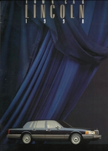 1990 Lincoln TOWN CAR brochure catalog 2nd Edition US 90 Signature Cartier - $10.00