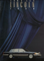 1990 Lincoln TOWN CAR brochure catalog 1st Edition US 90 Signature Cartier - $10.00