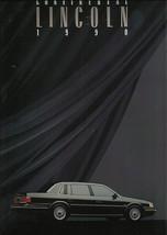 1990 Lincoln CONTINENTAL sales brochure catalog US 90 Signature - $8.00
