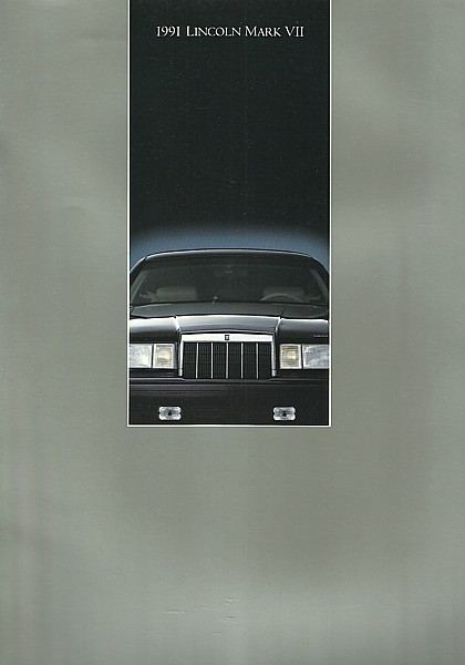 Primary image for 1991 Lincoln MARK VII sales brochure catalog US 91 MK7 LSC Bill Blass