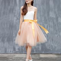 Lavender Ballerina Tulle Skirt Women Girl Knee Length Party Tutu Skirt image 15