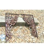 2 Large Cast Iron Corbels Braces Weldable Brackets Rust finish NO mount ... - $119.97