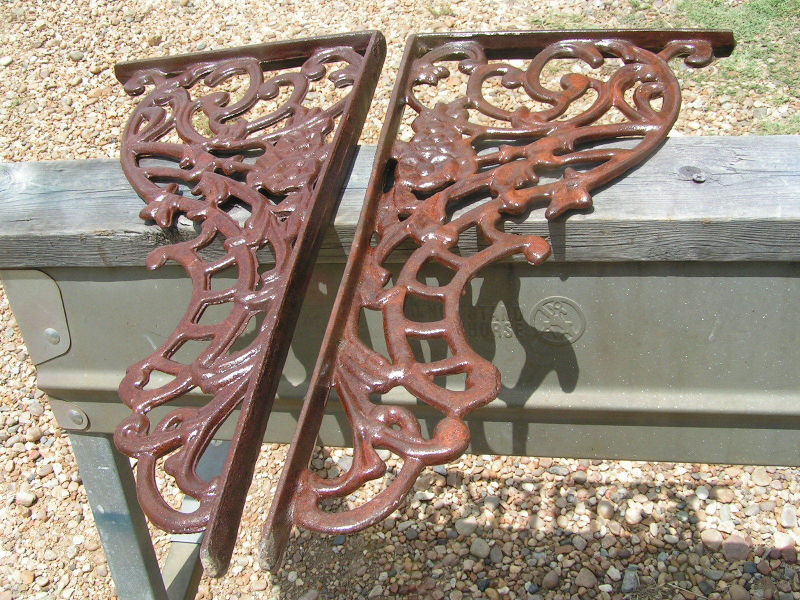 Picture of: 2 Large Cast Iron Corbels Braces Weldable And 36 Similar Items