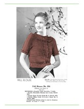 1930s Frill Blouse Hairpin Lace Creations - 1 Hairpin Lace pattern (PDF 8954) - $3.75